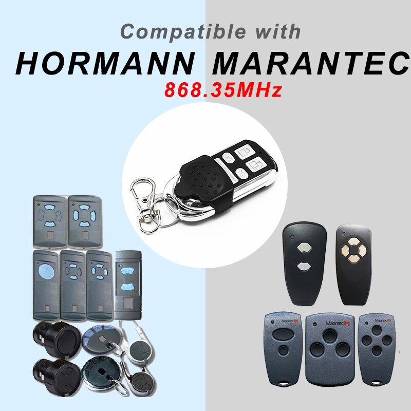 Hormann hsm2 hsm4 hs1 hs marantec digital d382 d384 d302 berner bhs110 bhs121 868mhz porta da garagem abridor de cópia de controle remoto