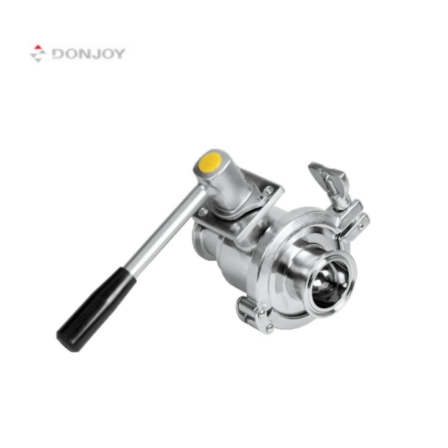 DONJOY SS304 316L manual stainless steel water ball valve tri clamp ball valve sanitary ball valve enlarge