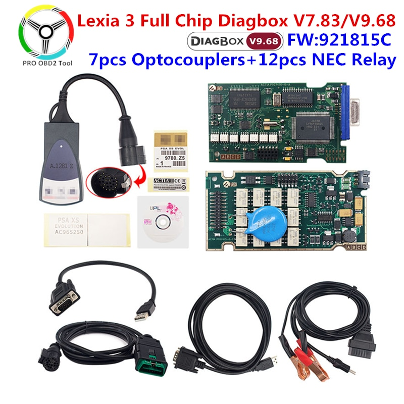 Golden Lexia 3 PP2000 Diagbox V7.83 Full Chip 921815C Diagnostic Tool Lexia 3 for Peugeot for Citroen lexia3 Auto Scanner