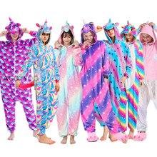 Las mujeres Pijamas adultos franela ropa de dormir Homewear Kigurumi unicornio punto Panda tigre de dibujos animados Animal conjuntos de pijama Pijamas
