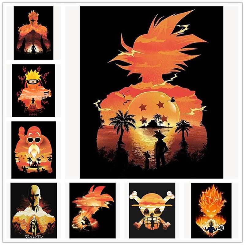 Diy Diamond Painting full square/round drill Cross Stitch Goku Dragon Ball Super Hot Fighting Japan Anime Mosaic decor picture