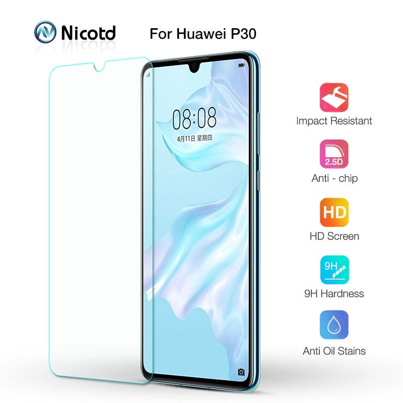 Templado de vidrio para Huawei P30 P20 Pro P10 P9 P8 P7 P6 pantalla cristal Protector para Huawei P30 Lite P10 más P9 P8 Lite 2017 de vidrio