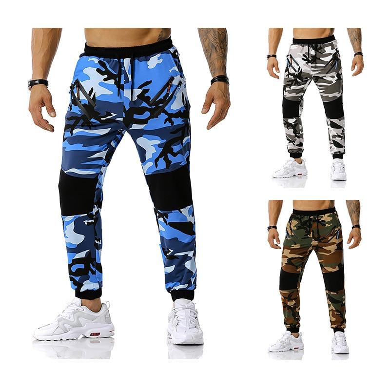 Новые мужские камуфляжные штаны для бега с мозаикой, спортивные штаны для улицы, тренировочные штаны для футбола, штаны для фитнеса