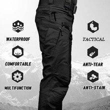 ใหม่ทหารยุทธวิธีกางเกงกันน้ำกางเกง Cargo ผู้ชาย Breathable SWAT Combat Army กางเกงทำงานกางเกง Joggers ขนาด S-6XL