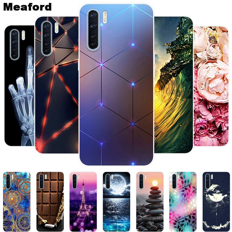 For OPPO A91 Case Silicone Soft Back Cover Case For OPPO A91 Case TPU Flowers Phone Case For OPPO F1