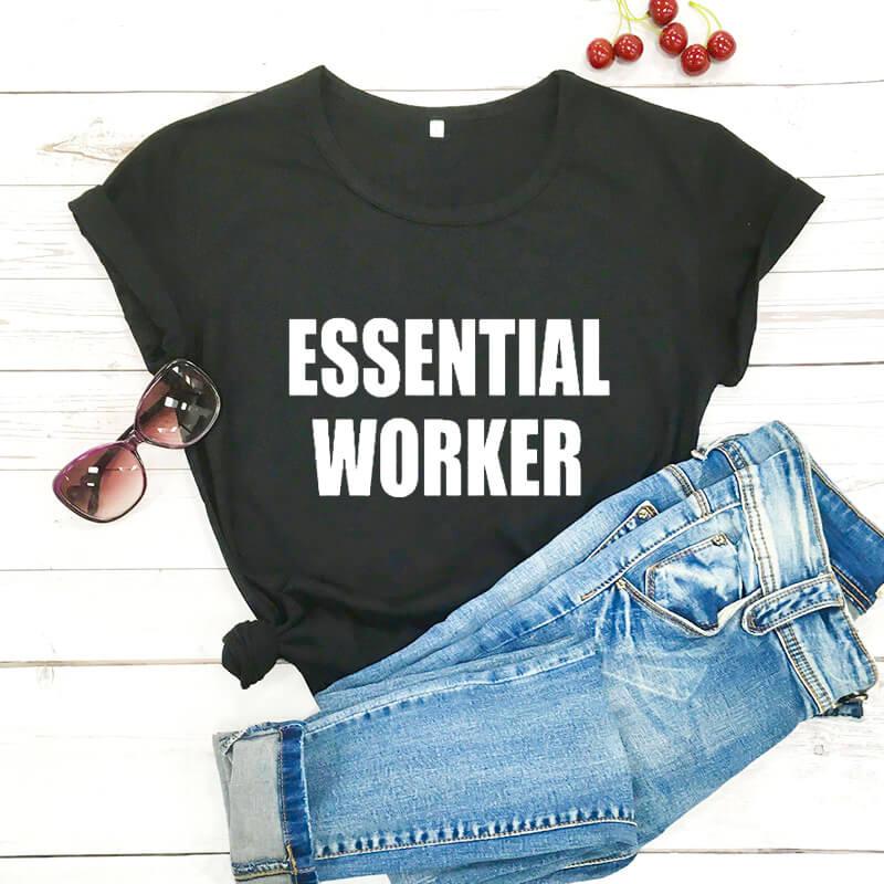 Quarantine Shirt Essential Worker Shirts stay Home Shirt new arrival 2020 100%cotton funny t shirt Social Distancing shirts