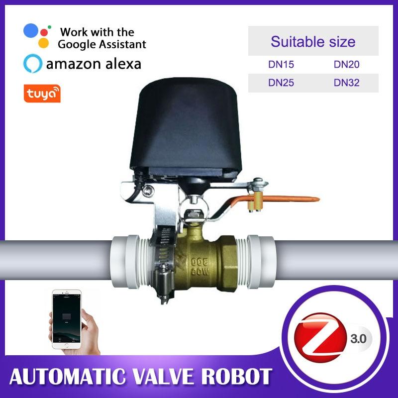 Zigbee Water Valve Auto Wifi Gas/water Valve Controller APP Control Work With Water Sensor Alexa Smartthings Ewelink Tuya Smart