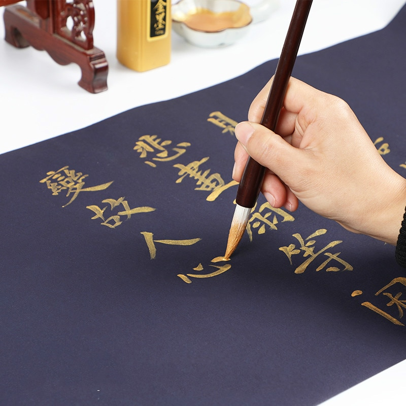 Chinese Rice Paper Calligraphy Writing Painting Half-Ripe Long Roll Xuan Paper Chinese Painting Porcelain Green Xuan Paper enlarge