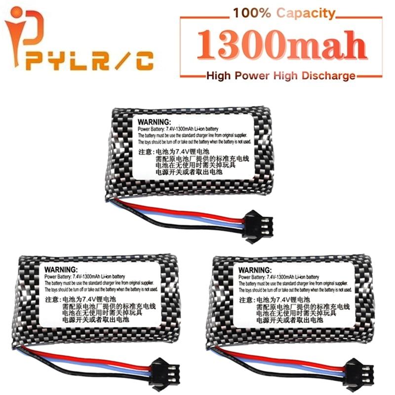 PYL Power 7.4v 1300mAh Li-ion battery for Watch Gesture Sensing Twisted RC stunt car 1-10Pcs 18650 7.4v battery FOR RC Cars