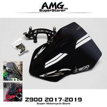 Moto haute qualité pare-brise pare-brise fumée noir écran pour Kawasaki Z900 Z 900 2017 2018 2019