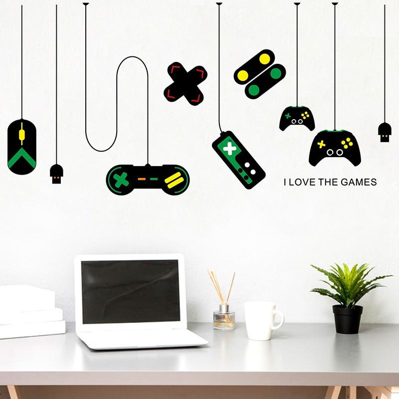 Gabinete para gamer, decoración de pared para pc, hogar moderno, pegatinas de...