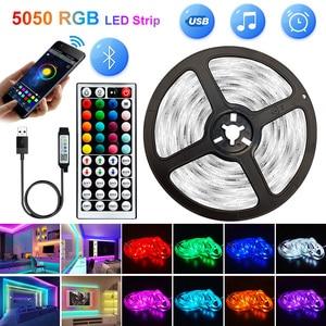 5V USB WIFI Bluetooth 1M-30M 5050 USB Led Strips Light Waterproof RGB Led Diode Ribbon Lamp For Decoration Bedroom TV BackLight