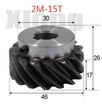 ثقب داخلي: 10 مللي متر ، ترس حلزوني 45 درجة ، 2 قطعة ، 2 م-15 دورة