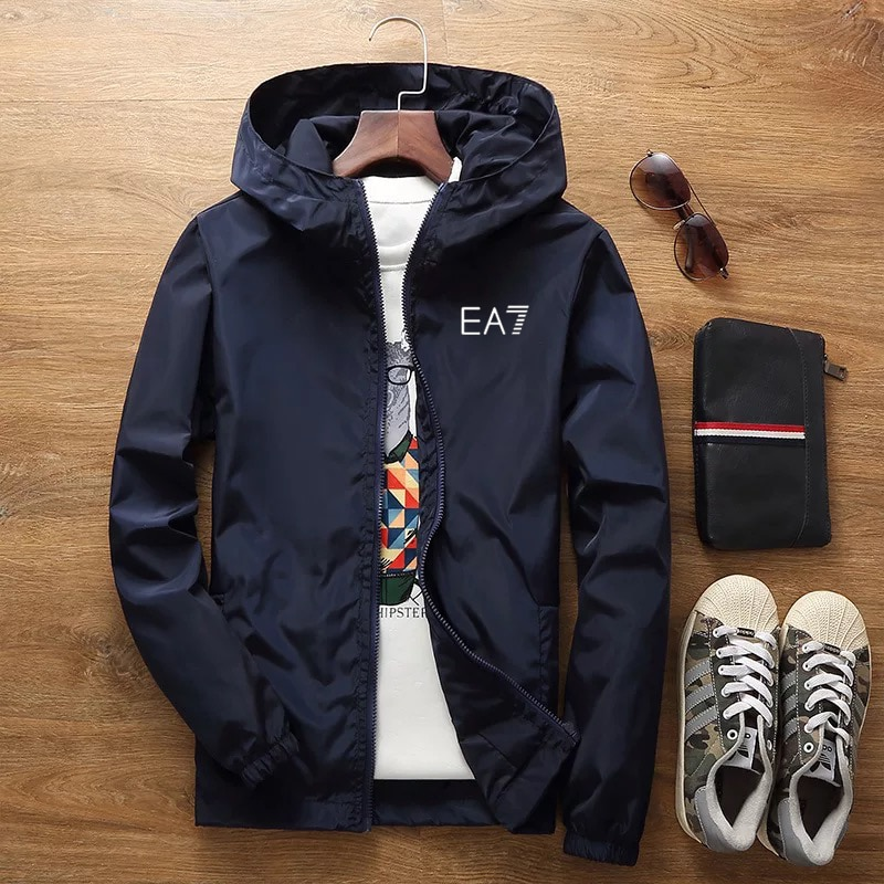 2020 spring and summer new jacket men's street brand windbreaker hoodie zipper thin jacket men's cas