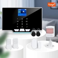 tuya remote control smart home security alarm system wireless gsm wifi burglar alarm sensor