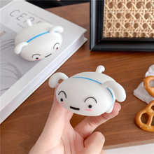 3D мультфильм лежа белая собака наушники силиконовый чехол для переноски 1 2 Pro 3 Беспроводной Bluetooth гарнитура VR Коробка Чехол аксессуары