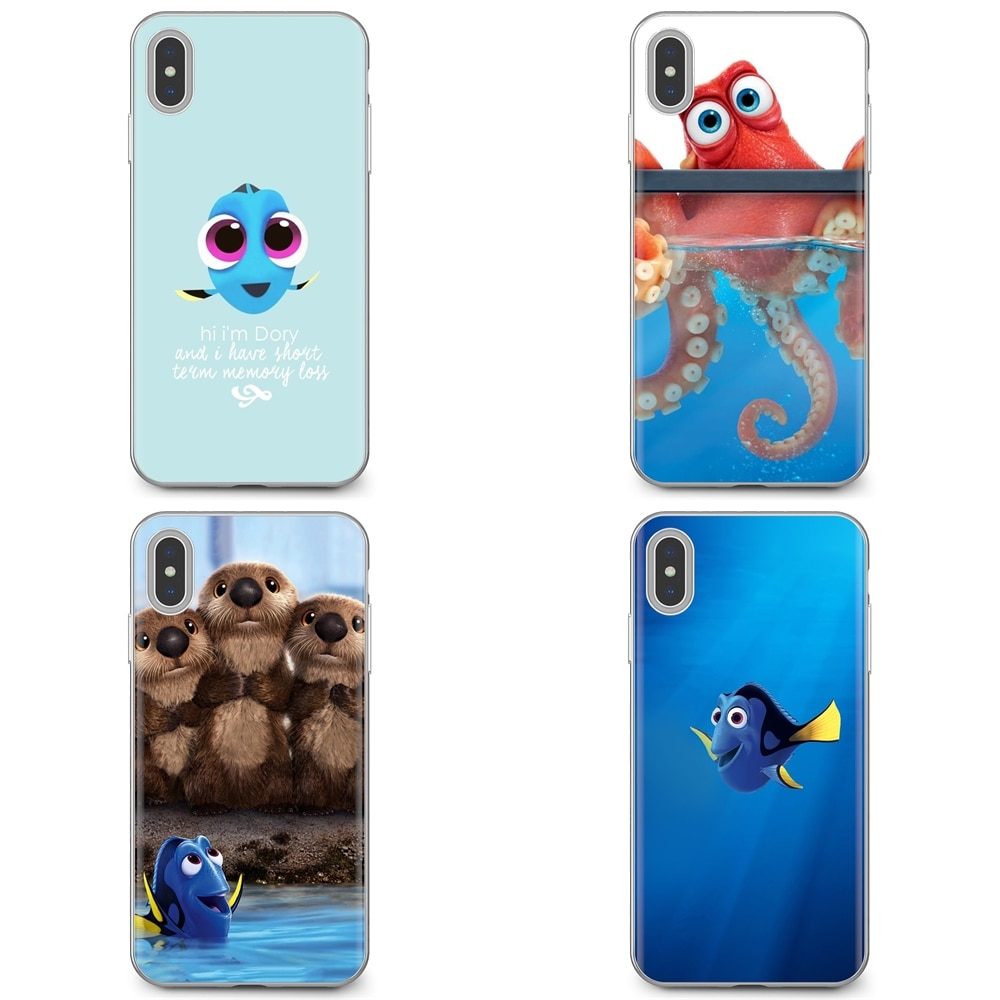 Encontrar Nemo Dory mar de silicona cubierta de Shell para el iPhone 11 Pro 4 4S 5 5S SE 5C 6 6S 7 7 8X10 XR XS Plus Max para iPod Touch