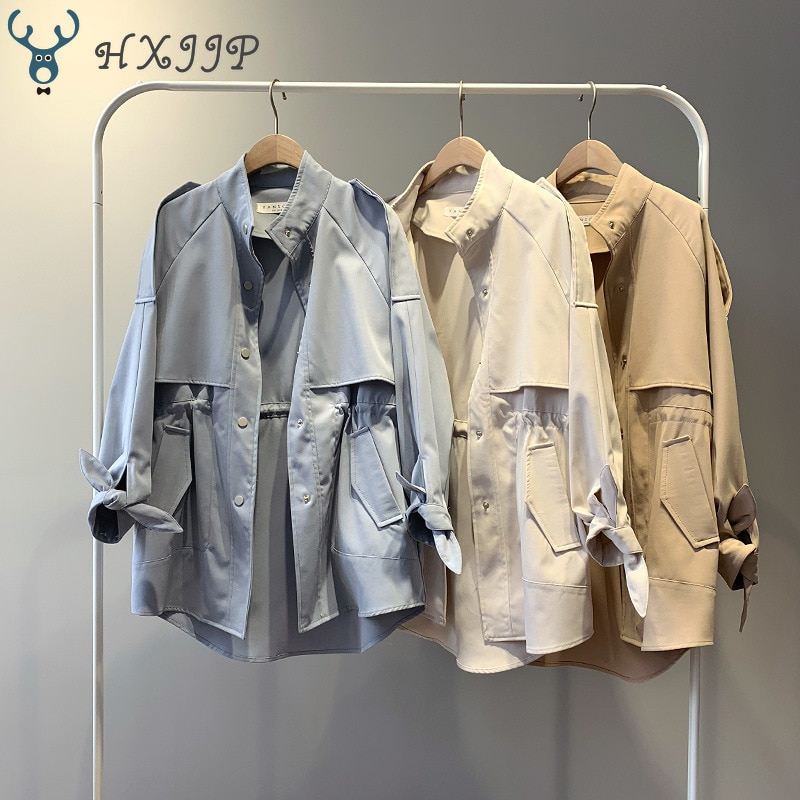 Trench coat Long Trench Spring coat women Casual Slim Trench coat for women Elegant Outside X-long Skirt coat Streetwear Sweet