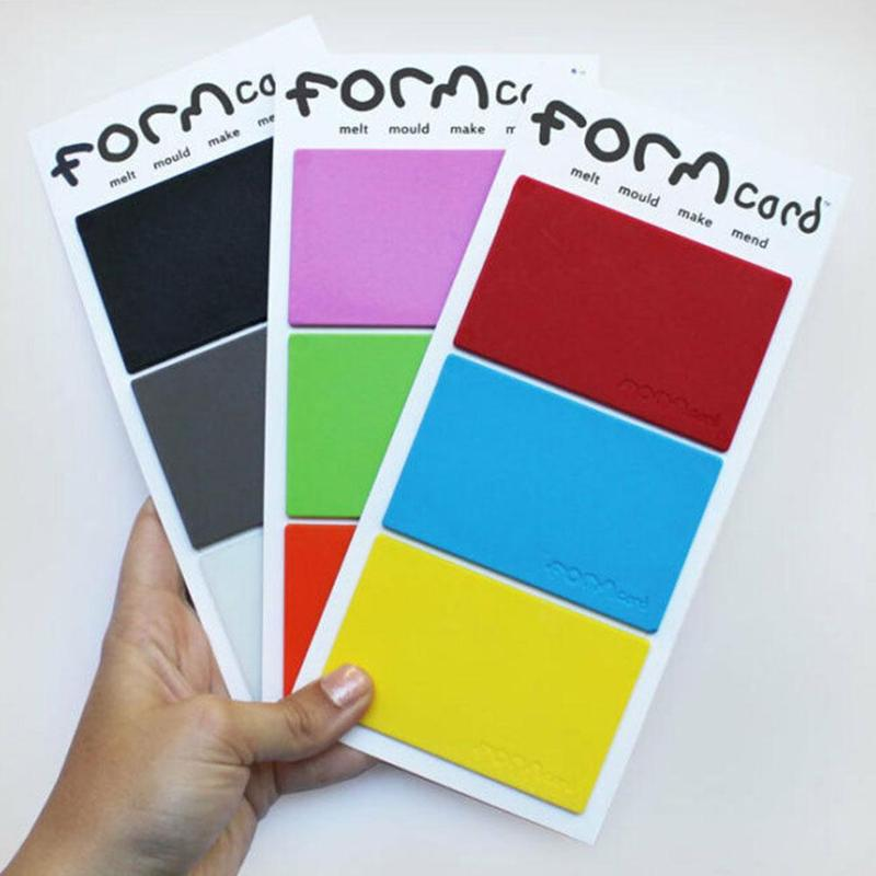 Formcard Handy Pocket Sized Strong Mouldable Bio-plastic Melt/mould/make/mend Repair Card Random Color