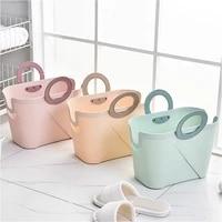 large plastic bath basket bathroom shower laundry toiletries wash baskets living room folding shopping shower gel storage basket