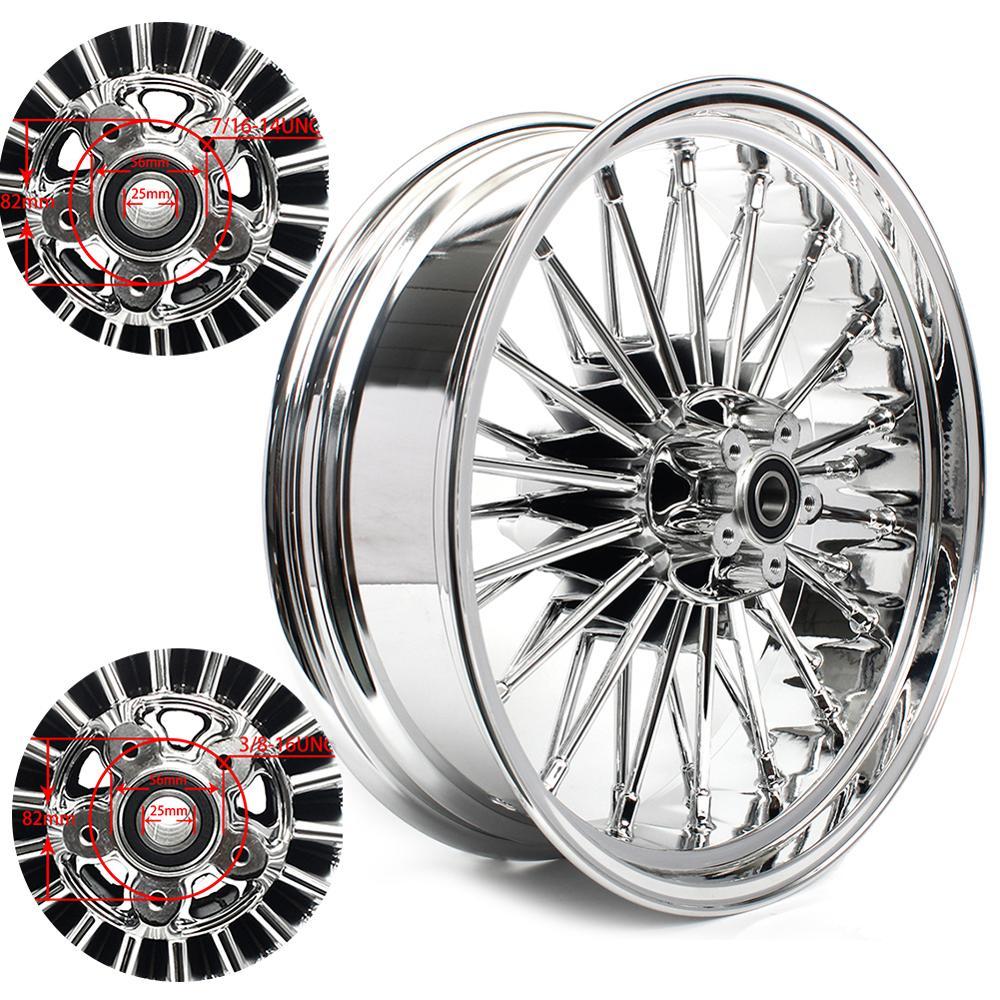 "BIKINGOY 18"" x 5.5"" Rear Wheel 36 Fat King Spokes 25mm Bearing For Harley Dyna / Softail / Touring / Sportster"