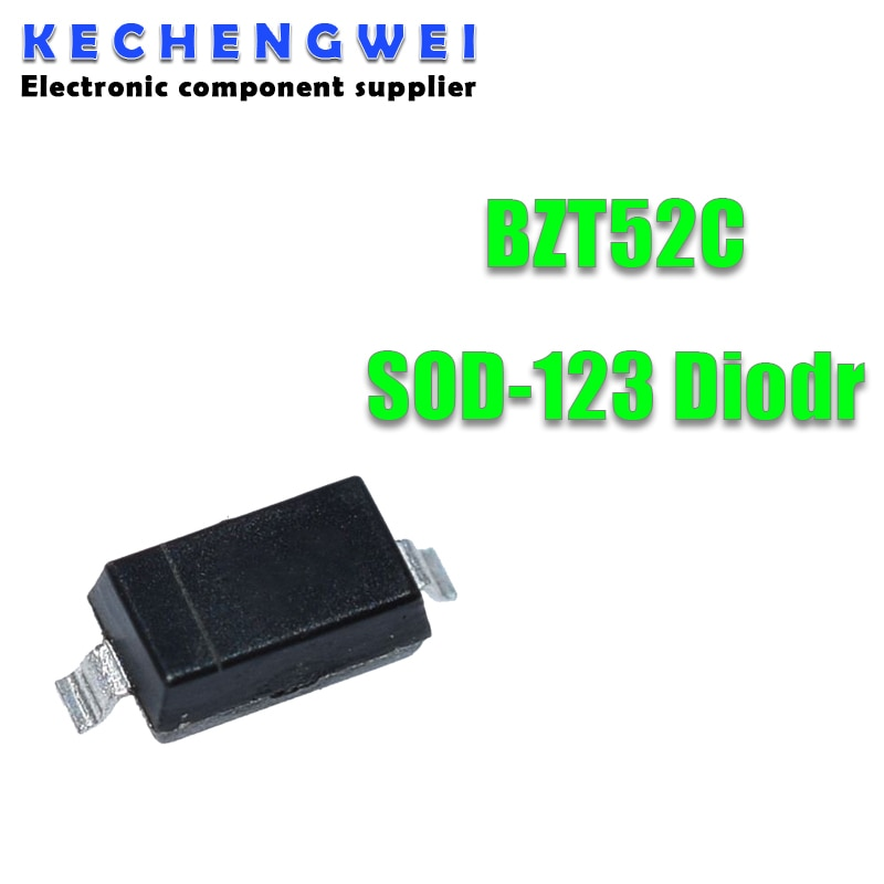 100 шт. Диод Зенера SOD-123 1206 Вт BZT52C 2 в 0,5 В 2,4 В 3 в 2,7 в 3,3 В 3,6 В 3,9 В 4,3 в 4,7 в 5,1 В 5,6 В 6,2 В 6,8 в 7,5 в 8,2 В V 9,1 V 10V