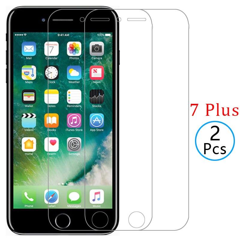 Funda para iphone 7 plus, funda protectora de pantalla de vidrio templado para iphone 7 plus, funda protectora para coque, carcasa de seguridad global aphone 9h