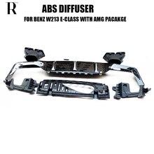 W213 E63 Stijl Abs Zwart Achterbumper Diffuser Met Uitlaat Tips Voor Benz W213 E200 E260 E300 E320 E43 Met amg Pakket 2016 Up