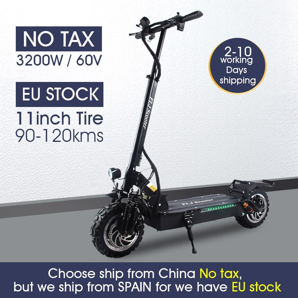 FLJ Hoverboard con 80-130kms range, Stock en Europa, patinete, bicicleta eléctrica, neumático...