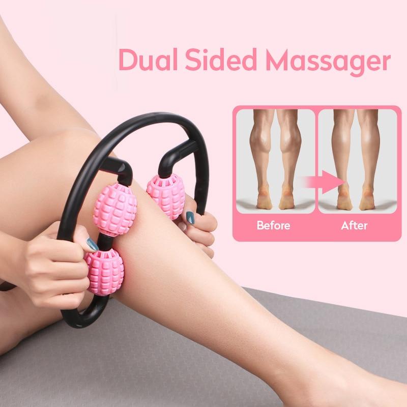 Masajeador de rodillo de eje de espuma, masajeador de punto, piernas, RELAJADOR muscular, gimnasio, Yoga, deportes, ejercicio en casa, brazo, cuello, cintura, adelgazamiento