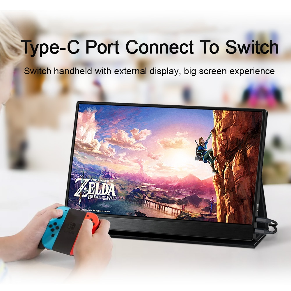 4K Portable Monitor For Laptop Huawei P30 Pro Phone 12.5 HDMI IPS Display Gaming Screen PS 4 5 Xbox Series X Switch Type C USB