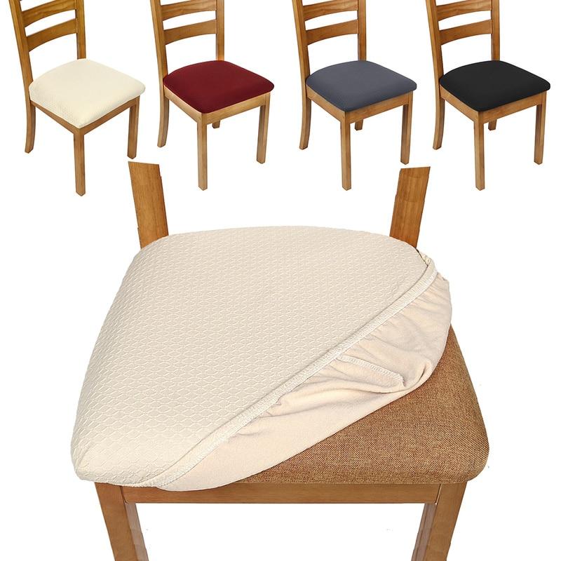 4 قطعة كرسي يغطي البوليستر دنة للإزالة مرونة تمتد الغلاف عدم الانزلاق المنزل الطعام كرسي مقعد غطاء