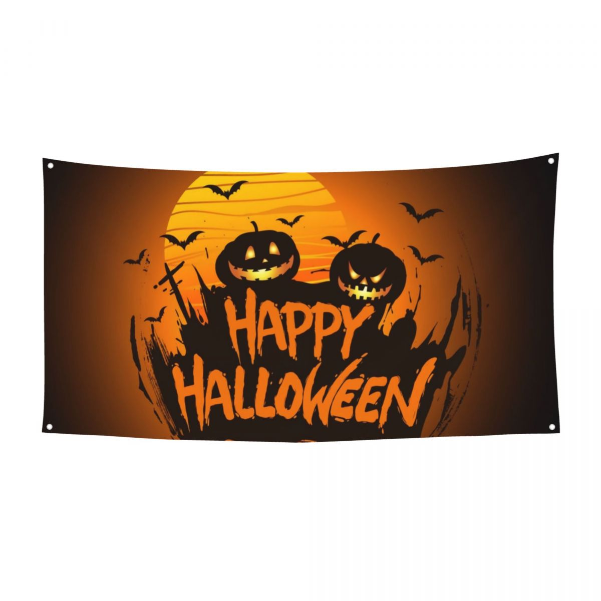 Halloween 180x90 cm banner with four metal buttonholes, suitable for indoor and outdoor holiday decorations