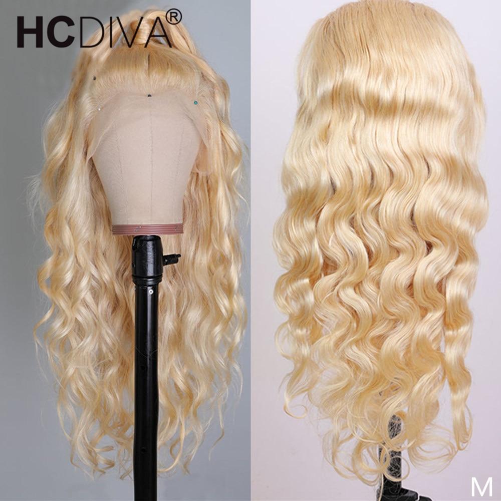613 Синтетические волосы на кружеве парик прозрачный 13x4 Remy светлые волосы бразильские волнистые волосы Синтетические волосы на кружеве чело...