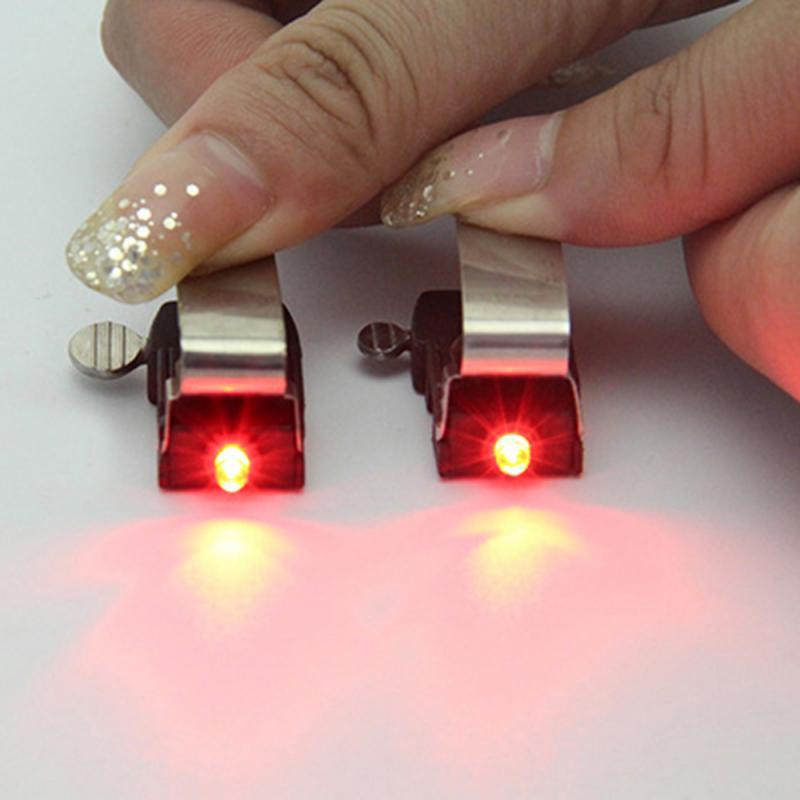 1/2/5 Uds Luz de bicicleta impermeable Nano bicicleta freno rojo luz LED Mini seguro indicador luz accesorios de bicicleta TSLM2