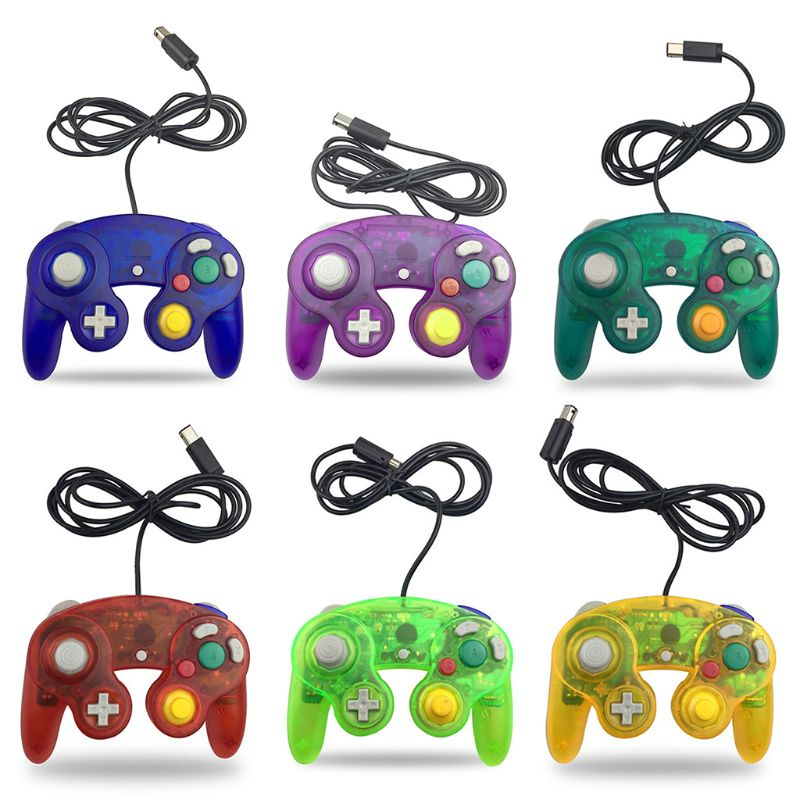 Mando con cable para Nintendo Wii Gamecube GC, mando con vibración de...