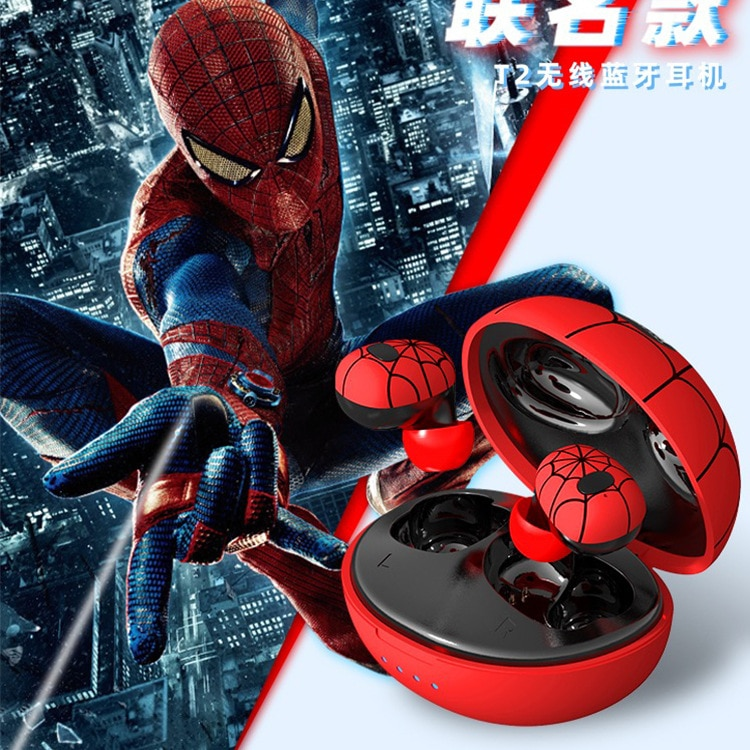 Disney Marvel Spider-Man 5.0 Wireless Bluetooth Headset In-ear Sports Running Earplugs Portable Music Player Cool Headphones enlarge