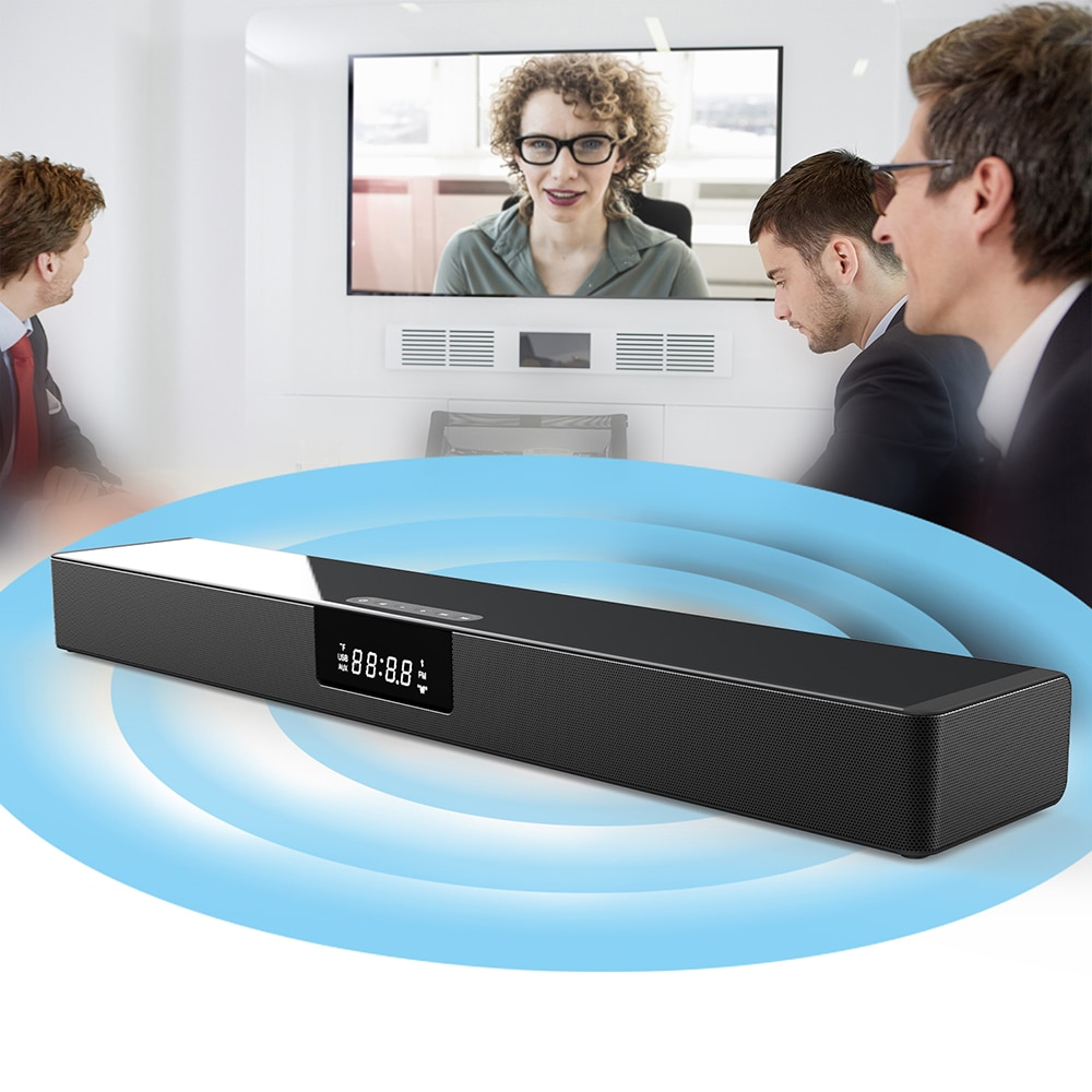 BS39B Wireless Bluetooth home TV sound bar 3D stereo surround sound for PC theater TV speakers, can charge mobile phones enlarge