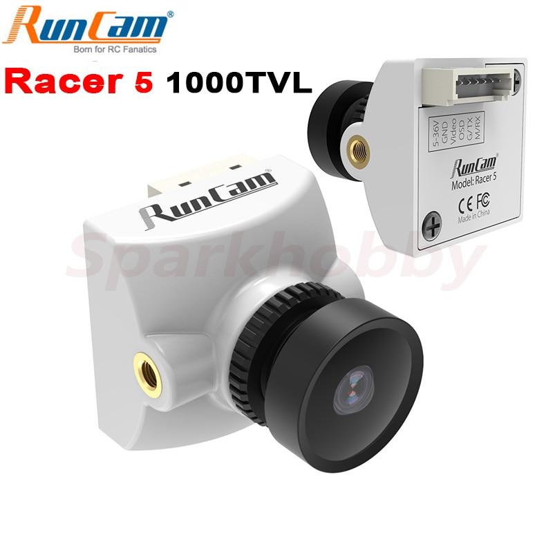 RunCam المتسابق 5 1000TVL 1.8 / 2.1 مللي متر المدمج في سوبر WDR CMOS الاستشعار NTSC / PAL للتحويل FPV كاميرا ل طائرة بدون طيار FPV سباق أجزاء RC