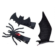 할로윈 악마 박쥐 날개 작은 머리핀 머리띠 헤어핀 헤어 액세서리