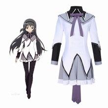 Puella Magi Madoka Magica Homura Akemi Cosplay déguisement adulte femmes tenue lavande robe fille JK uniforme jupe chemise noire Stock