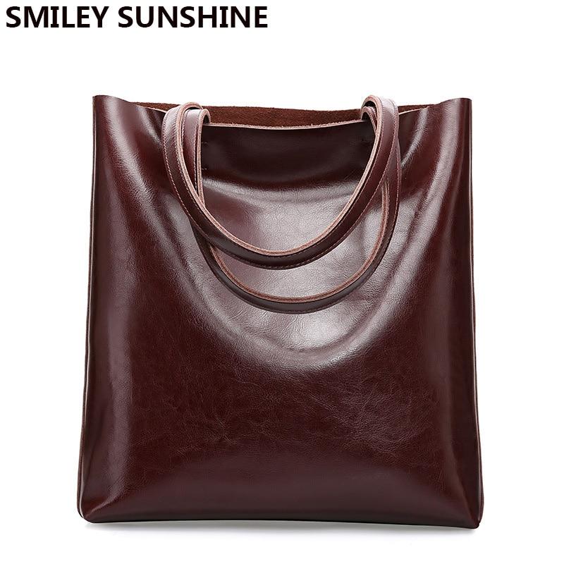 Cow Leather Bag Ladies Genuine Leather Handbags Big Women Bag Large Vintage Female 2020 Office Hand Shoulder Bags For Women Tote