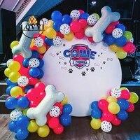 75pcs pets dog paw latex balloons dog bones animal theme party decor kids classic toys globos helium air inflatable balls supply