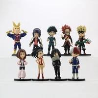 my hero academia 9 pcs original figure model dolls toy collection cospla anime model birthday gift green valley
