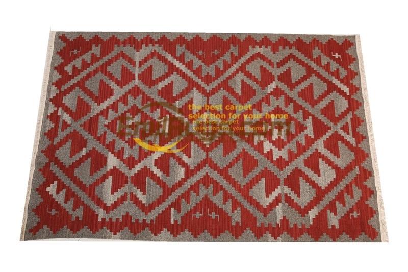 Alfombra kelim, tela tejida a mano, lana, decoración del hogar, cuadrada, turca Natural