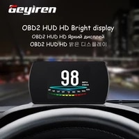 reyire obd2 gps hud car on board computer 4 3 hd tft digital speed projector obd head up display coolant fuel fault code clear