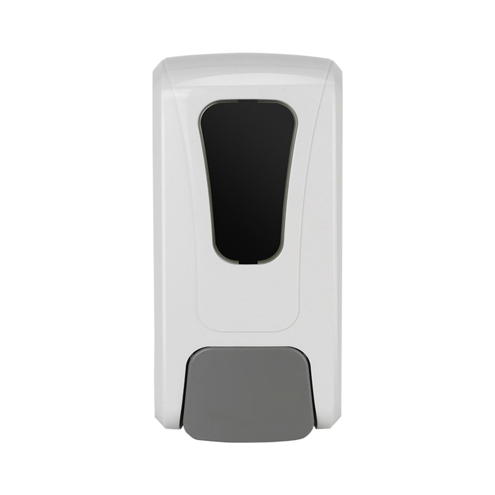 موزع الصابون هلامي 1200 مللي دفع يدوي من نوع مع نافذة مرئية نازف مضخة صابون سائل لغرفة الاستحمام المطبخ فندق مقهى