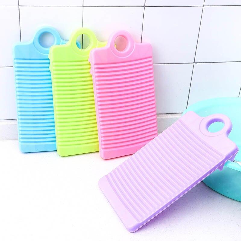 Espesar herramientas de limpieza de ropa portátiles antideslizantes accesorios para colada mini lavadero de plástico Tabla de lavar 1 Uds