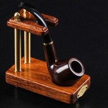 Support haut de gamme tuyau de fumer support en bois en métal support de bureau support de table tuyaux à cigares support accessoires de tabac