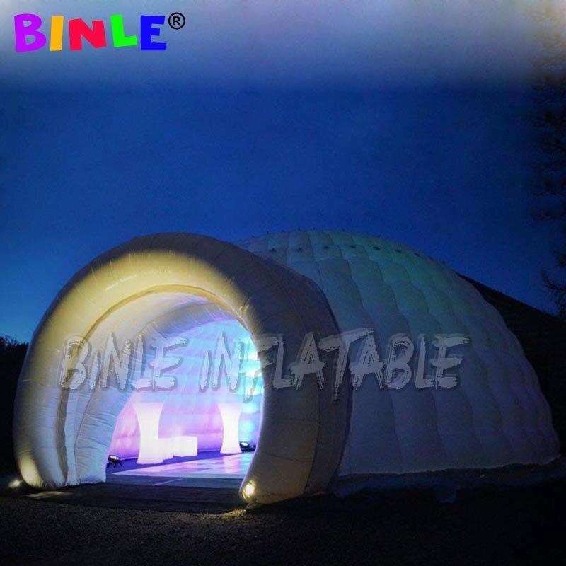 خيمة على شكل قبة قابلة للنفخ للأماكن الخارجية كبيرة بطول 10 أمتار للإعلان عن خيمة حفلات تجارية للشارع خيمة حفلات الزفاف LED للبيع
